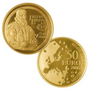 "Belgien 50 Euro 2006 ""400. Todestag Lipsius"", Europastern-Serie, 999er Gold, 6,23g, Ø 21mm, PP, Auflage: 2.500"