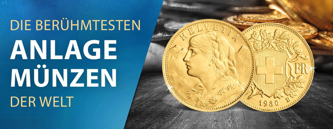 Die berühmtesten Anlagemünzen der Welt: das Schweizer Vreneli
