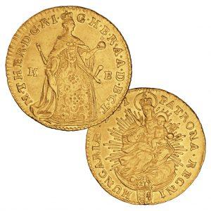 Heiliges Römisches Reich, Maria  Theresia, Dukat 1741-1765, 986er Gold, 3,49g, Ø 23mm