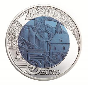 """Luxemburg 5 Euro 2010 """"Burg Esch-Sauer"""""""