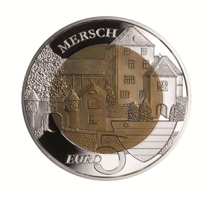 Niob Münzen Luxemburg 5 Euro Silber Niob Aus Der Serie Burgen