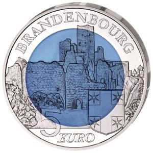"""Luxemburg 5 Euro 2015 """"Burg Brandenbourg"""""""