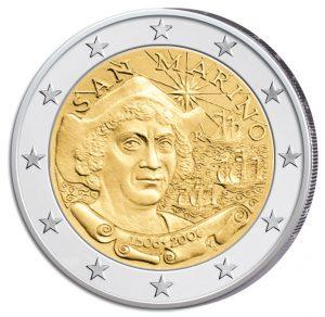 San Marino 2 Euro-Gedenkmünze 2006 500. Todestag von Christoph Kolumbus