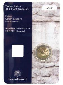 Andorra 2 Euro-Gedenkmünze 2016 150-jähriges Jubiläum der Neuen Reform von 1866