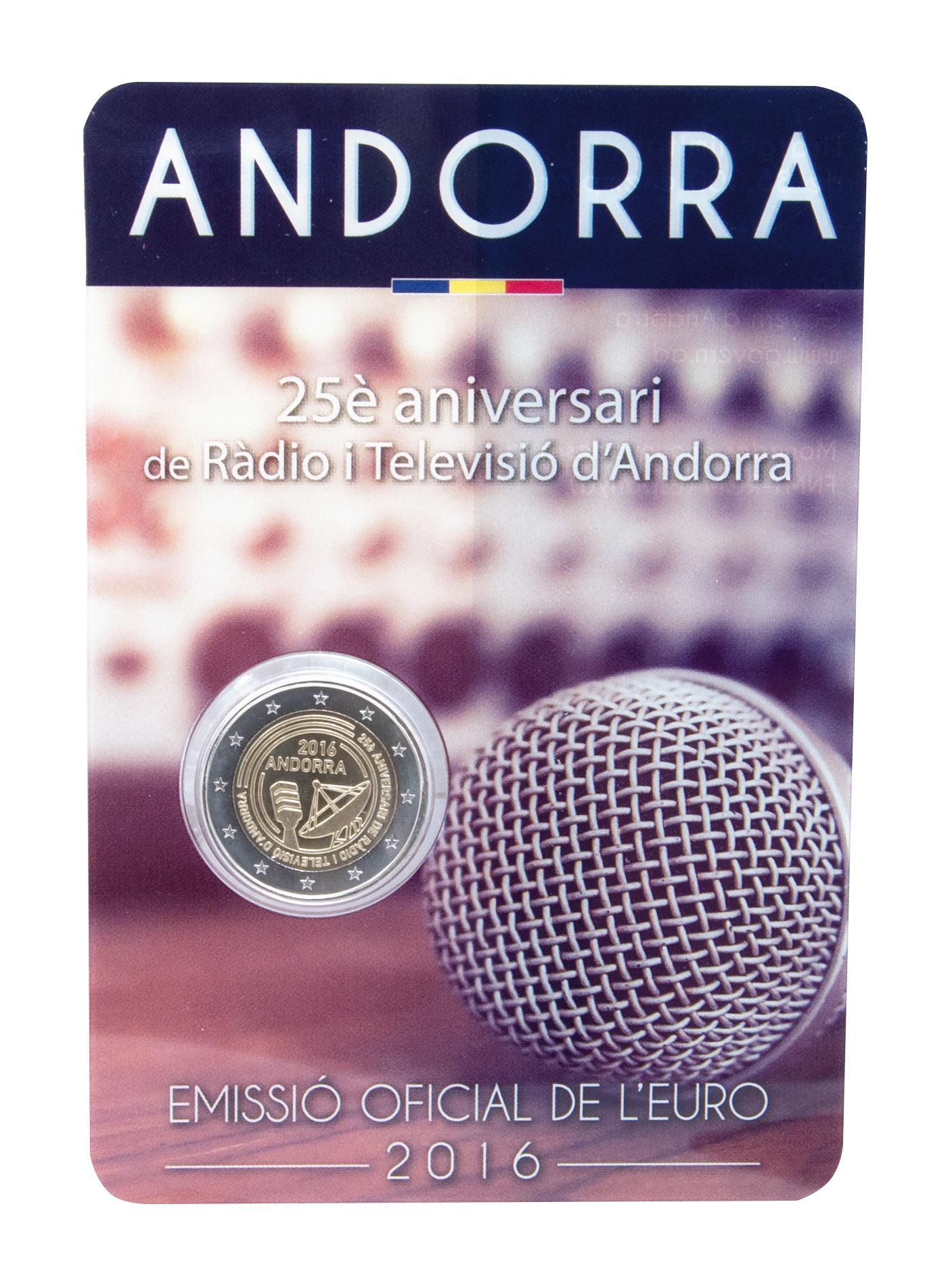 Juni 2017 Endlich Ausgegeben Andorra 2 Euro Gedenkmünzen 2016