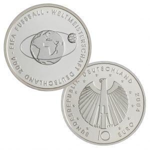10 Euro Münzen aus Deutschland 2004