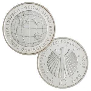 10 Euro Münzen aus Deutschland 2005