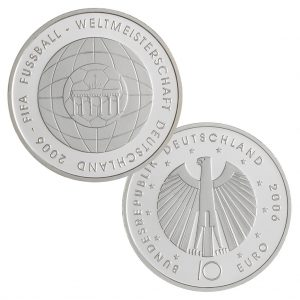 10 Euro Münzen aus Deutschland 2006