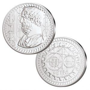 Griechenland 10 Euro 2015, Archimedes, 925er Silber, 34,10 Gramm, Ø 40mm Etui und Echtheitszertifikat, PP, Auflage: 1.500
