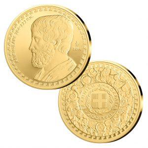 Griechenland 200 Euro 2014 Aristoteles, 916,666er Gold, 7,9881g, 22,10mm, im Etui mit Echtheitszertifikat, PP, Auflage: 600