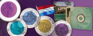 """Niob-Münzen: Luxemburg 5 Euro Silber-Niob aus der Serie """"Burgen Luxemburgs"""""""