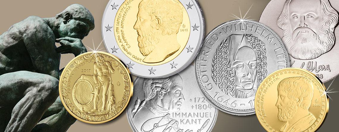 """Münzen sammeln: Faszinierendes Sammelgebiet """"Philosophen auf Münzen"""""""