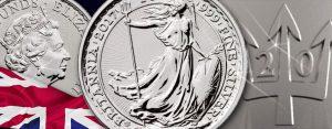 20 Jahre Britannia in Silber – Jubiläumsmünze 2017 mit Dreizack Privy Mark