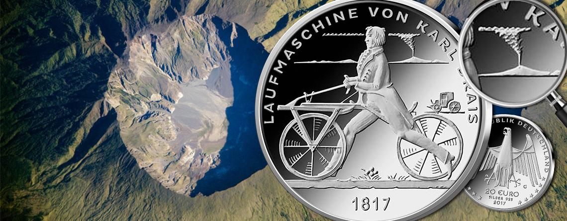 Heute offizieller Ausgabetermin: BRD 20 Euro 2017 Laufmaschine von Karl Drais 1817