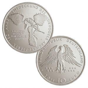 BRD 10 Euro 2011 150 Jahre Entdeckung des Urvogels Archaeopteryx