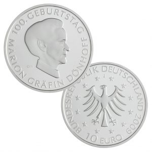 BRD 10 Euro 2009 100. Geburtstag von Marion Gräfin Dönhoff (1909–2002)