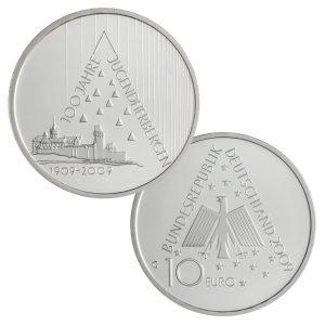 BRD 10 Euro 2009 100 Jahre Deutsches Jugendherbergswerk
