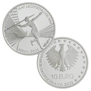 10 Euro Münzen aus Deutschland 2009