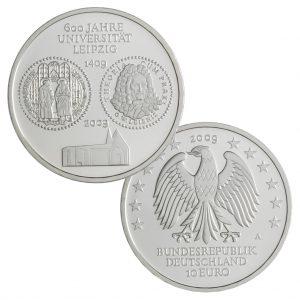 BRD 10 Euro 2009 600 Jahre Universität Leipzig