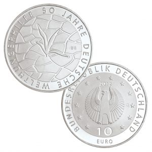 10 Euro Münzen aus Deutschland 2012