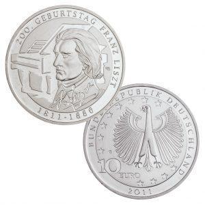 BRD 10 Euro 2011 200. Geburtstag Franz Liszt