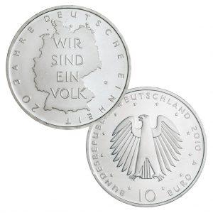 BRD 10 Euro 2010 20. Jahrestag der Deutschen Einheit