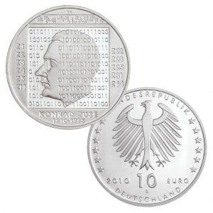 10 Euro Münzen aus Deutschland 2010