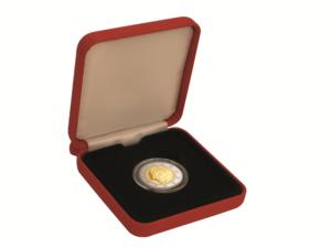 """Geöffnetes Etui der Münze Monaco 2 Euro-Gedenkmünze 2007 """"25. Todestag Gracia Patricia, st, Auflage: 20.001"""