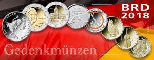 Neue deutsche Münzen 2018 – BRD Gedenkmünzen und Ausgabeprogramm 2018