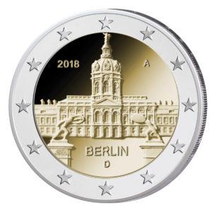 """BRD 2 Euro-Gedenkmünze 2018 """"Serie Bundesländer – Berlin: Schloss Charlottenburg"""", © Münzbild BADV"""