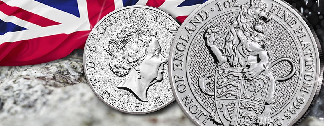 The Queen's Beasts - Großbritannien 1 Unze Platin 2017 – der Löwe