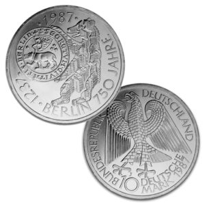 BRD 10 DM Gedenkmünzen 1987–1989