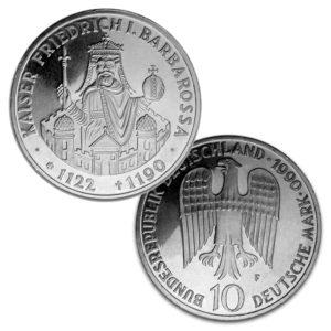 BRD 10 DM-Gedenkmünzen 1990 – 1993