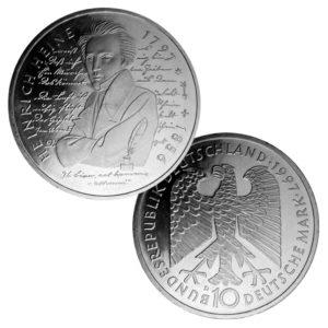 BRD 10 DM-Gedenkmünzen 1994 – 1997