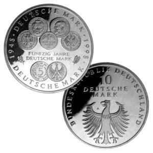 BRD 10 DM 1998 50. Jahrestag Deutsche Mark