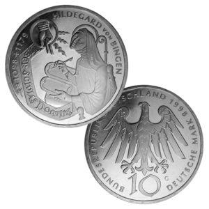 BRD 10 DM 1998 900. Geburtstag Hildegard von Bingen