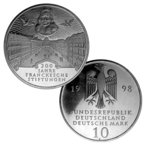 BRD 10 DM 1998 300. Jahrestag der Franckeschen Stiftungen zu Halle