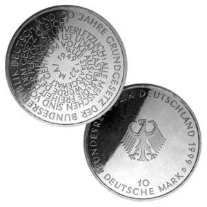 BRD 10 DM 1999 50. Jahrestag Grundgesetz der BRD