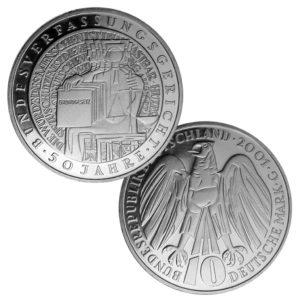 BRD 10 DM 2001 50. Jahrestag Bundesverfassungsgericht