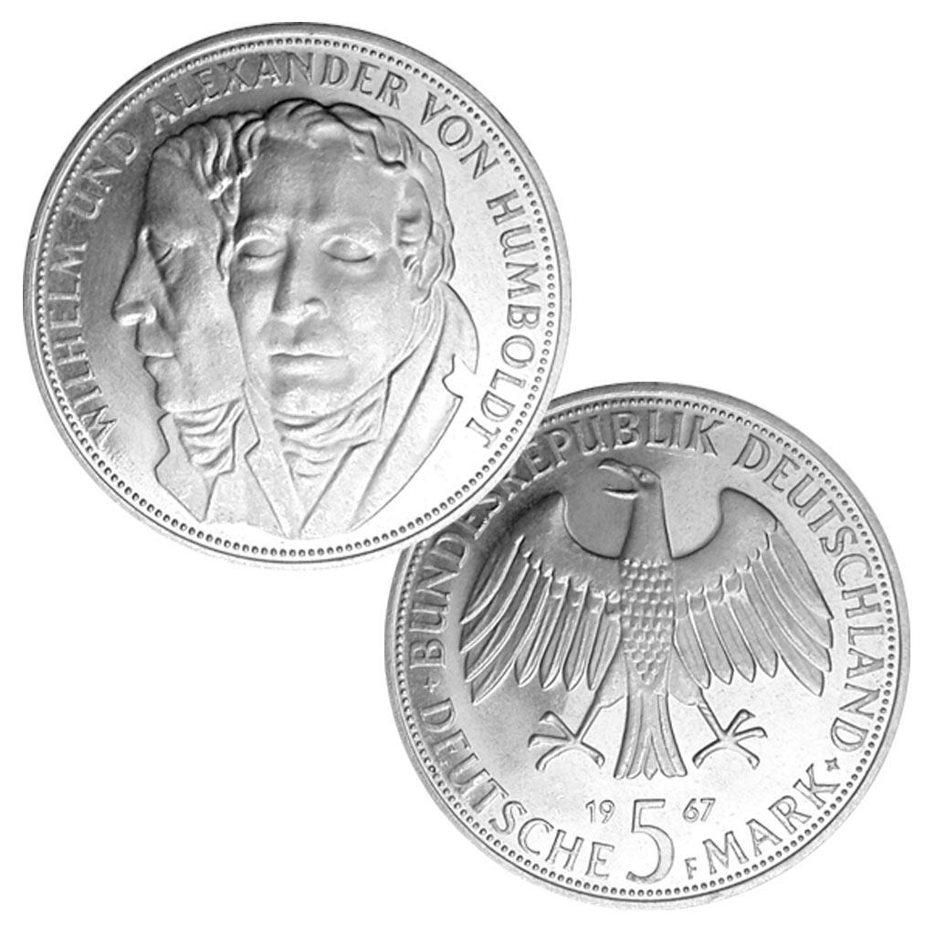 Brd 5 Dm Gedenkmünzen 1966 1969 Primus Münzen Blog