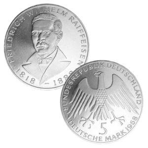 BRD 5 DM 1968 150. Geburtstag Friedrich Wilhelm Raiffeisen