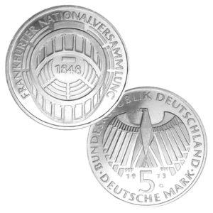 BRD 5 DM 1973 125. Jahrestag Zusammentritt der Frankfurter Nationalversammlung