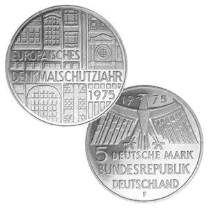 BRD 5 DM 1975 Zum Europäischen Denkmalschutzjahr 1975