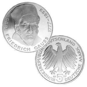 BRD 5 DM 1977 200. Geburtstag Carl Friedrich Gauß