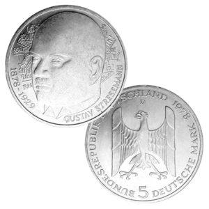 BRD 5 DM 1978 100. Geburtstag Gustav Stresemann
