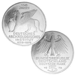 BRD 5 DM-Gedenkmünzen 1975 – 1979