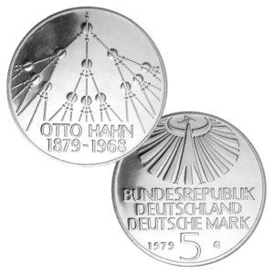 BRD 5 DM 1979 100. Geburtstag Otto Hahn