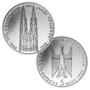 BRD 5 DM 1980 100. Jahrestag Vollendung des Kölner Domes