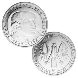 BRD 5 DM-Gedenkmünzen 1979 – 1982