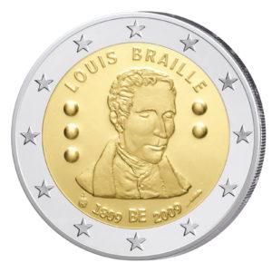 Belgien 2 Euro-Gedenkmünze 2009 – 200. Geburtstag Louis Braille